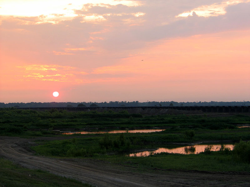 Sunset Over the Bonnet Carre Spillway