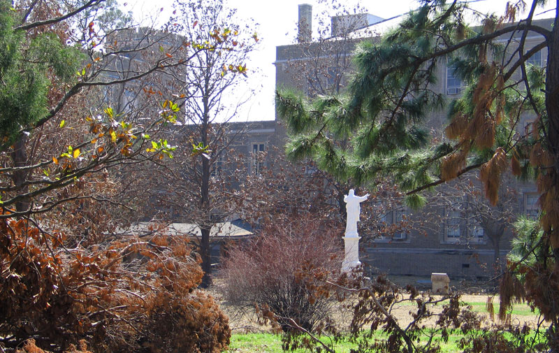 Sacred Heart Courtyard from another angle