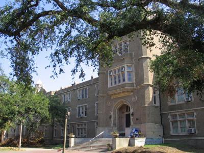 Academy Entrance Framed by Live Oak