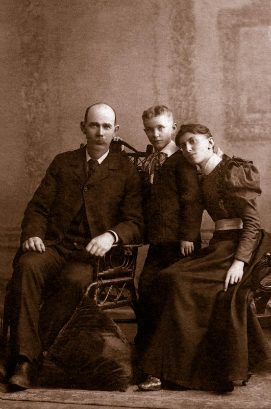 Uncle Attie,  Aunt Annie & John - 1898