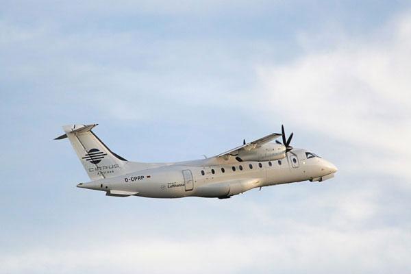 Cirrus Airlines Dornier 328 departing from Kloten, Zurich