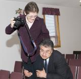 Pastor has strong shoulders