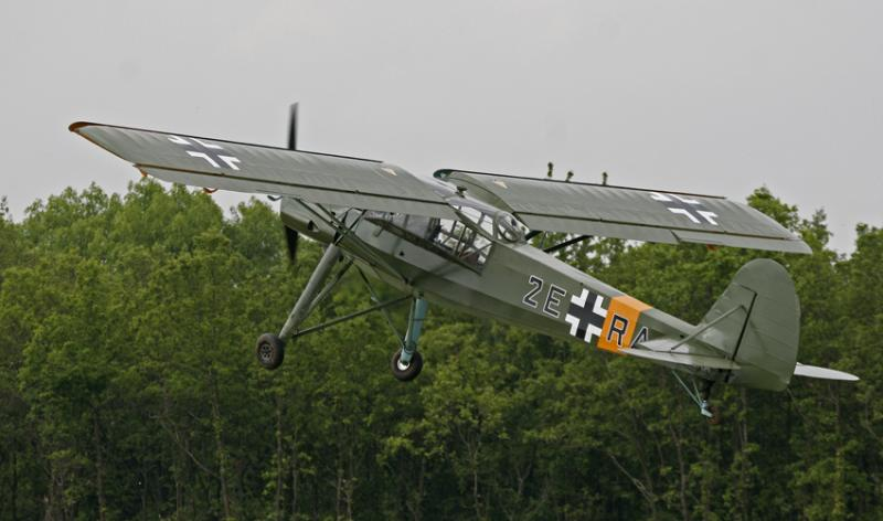 Fieseler Stotch au décollage