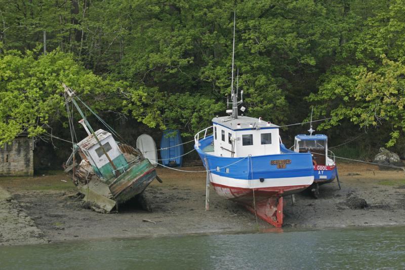 Bateaux de pêche à Conleau