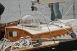 Pen Duick II dans le port du Crouesty - Vue de la bulle de plexiglas
