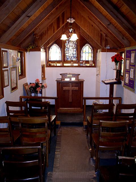 Inside Americas smallest church