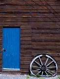 Blue door and Wheel
