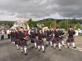 Then the Pipe band played and Marched