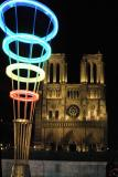 Notre Dame with Olympic rings