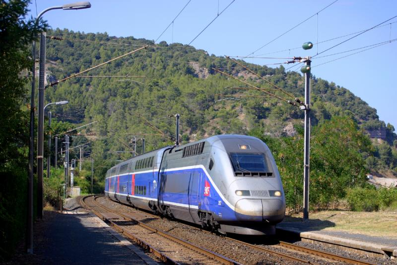 TGV Duplex at Gonfaron.