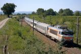 The BB22404 heading to Nice, near Les Arcs.