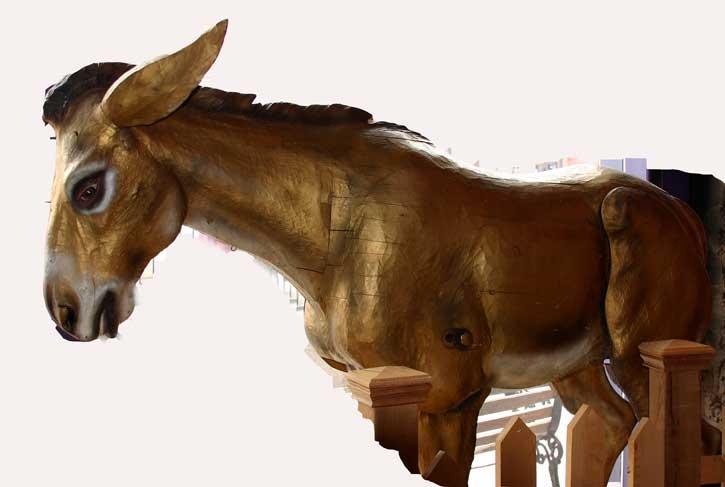 1893 Brass Donkey