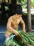 Samoan Village - Weaving a Basket