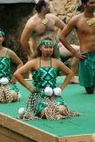 Maori Dancer with Poi Balls