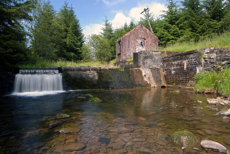 Old sluice building, Beacons Reservoir