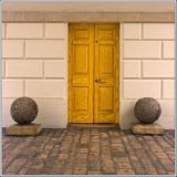 Door and balls