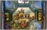 Painted hall roof detail