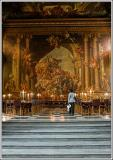 Staring in awe - painted hall