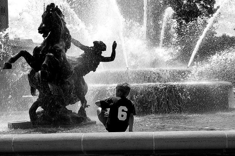Boy at Fountain