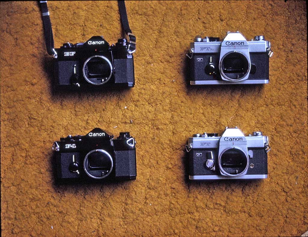 The cameras I was using in 1974