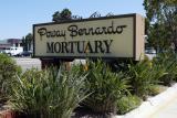 Poway Bernardo Mortuary sign