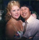 Gail and Elliot at Zondra's wedding  8/1992