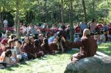 Monk Chan Khong talk with visistors