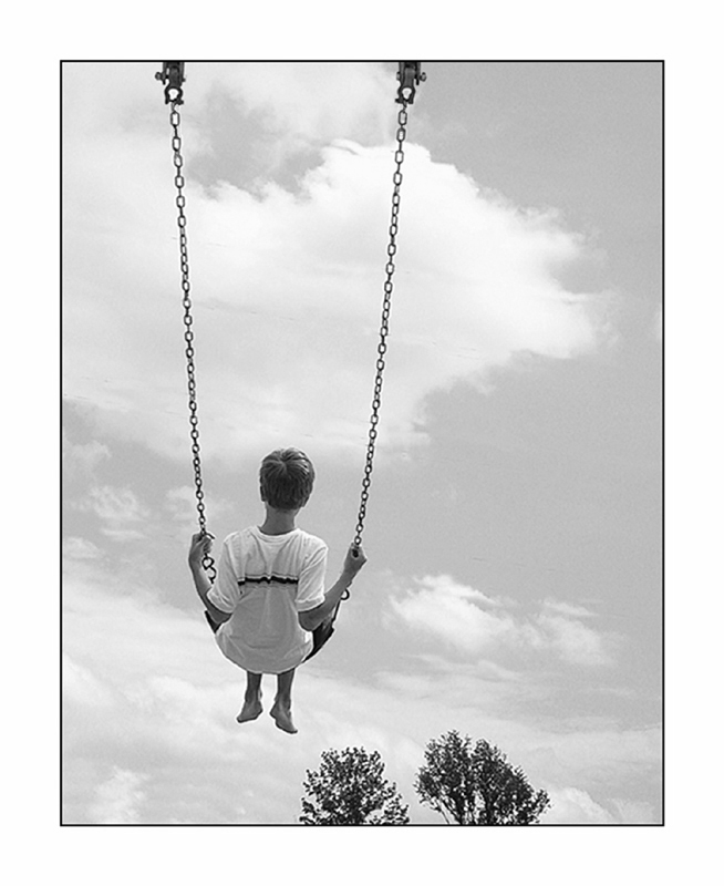 Up,Up, and Away (B&W)