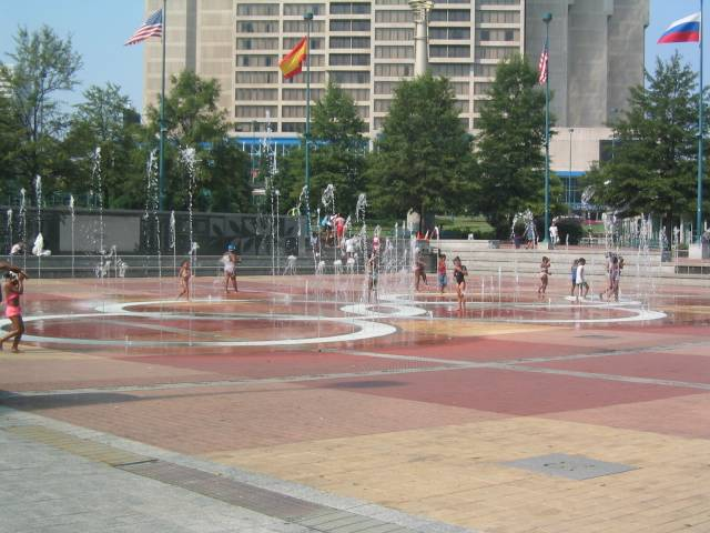 cooling off at olympic park.JPG