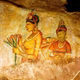 Wall fresco2, Sigiriya, circa 3BC