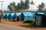 Temporary shelters.....