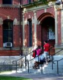 Cambridge - Chatting in Harvard Yard