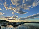 Just boats and clouds