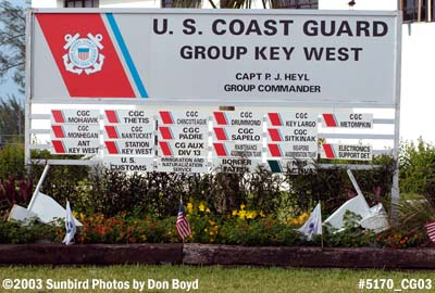 2003 - USCG Group Key West - stock photo #5170