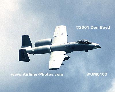 2001 - USAF Fairchild Republic A-10 Thunderbolt II Warthog military aviation stock photo #UM0103