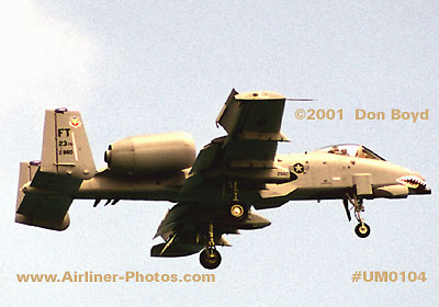2001 - USAF Fairchild Republic A-10 Thunderbolt II Warthog military aviation stock photo #UM0104