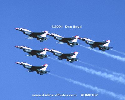 2001 - USAF Thunderbirds military aviation stock photo #UM0107