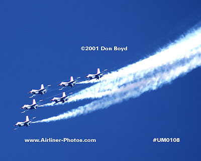 2001 - USAF Thunderbirds military aviation stock photo #UM0108
