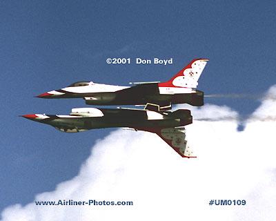 2001 - USAF Thunderbirds military aviation stock photo #UM0109