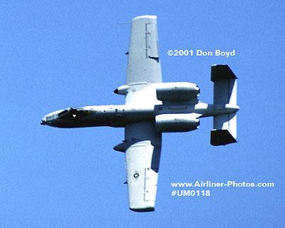 2001 - USAF Fairchild Republic A-10 Thunderbolt II Warthog military aviation stock photo #UM0118