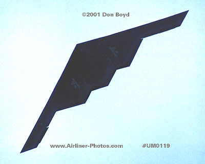 2001 - USAF B-2A Spirit stealth bomber military aviation stock photo #UM0119
