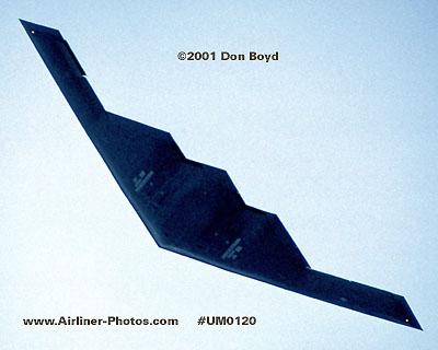 2001 - USAF B-2A Spirit stealth bomber military aviation stock photo #UM0120