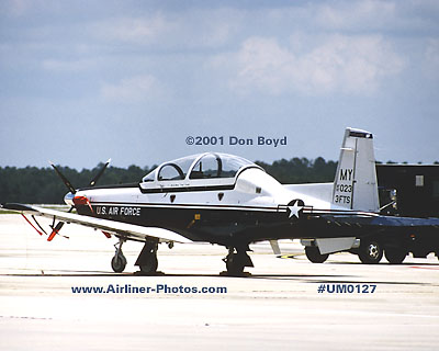 2001 - USAF Raytheon Beech T-6A Texan II 97-023 military aviation stock photo #UM0127