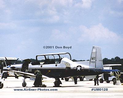 2001 - USAF Raytheon Beech T-6A Texan II 97-021 military aviation stock photo #UM0128