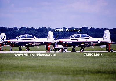 2001 - USAF Raytheon Beech T-6A Texan IIs at Moody AFB military aviation stock photo #UM0129