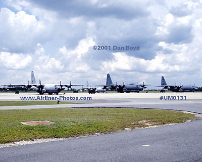 2001 - USAF C-130s at Moody AFB military aviation stock photo #UM0131