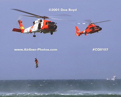 2001 - USCG HH-60J and HH-65A at Air & Sea Show - Coast Guard stock photo #CG0107