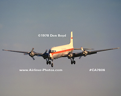 1978 - Inair Panama (IX) DC-6B HP-538 (ex N4888R) aviation cargo airline stock photo #CA7806