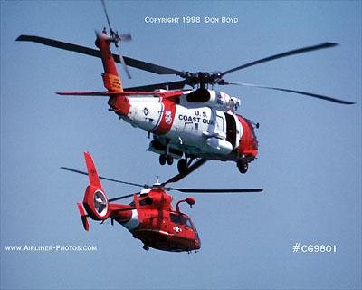 1998 USCG HH-60J and HH-65A Coast Guard aviation stock photo #CG-9801