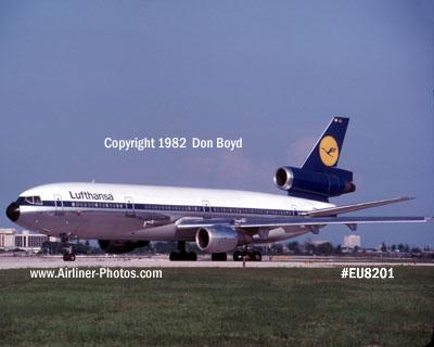 1982 - Lufthansa DC10-30 D-**** at Miami aviation airline stock photo #EU8201